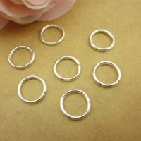 2000 pcs 9 mm Open Jump Ring White K color O Rings nickel, l...