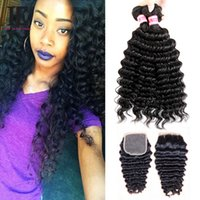Brazilian Deep Wave with Closure 4 Bundles With Closure Braz...