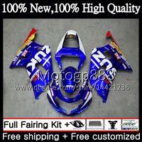 Corpo per SUZUKI GSX-R600 GSXR 750 K1 GSXR750 01 02 03 23PG11 GSXR 600 01 03 Nuovo rosso blu GSX-R750 GSXR600 2001 2002 2003 Carenatura Carrozzeria
