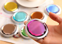 10PCS Engraved Cosmetic Compact Mirror Crystal Magnifying Make Up Mirror Wedding Gift for Guests DROP SHIPPING#M023S