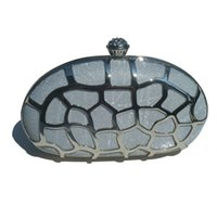 Turtle Shell Box Clutch Encrusted Hollow Out Metallic Shape ...