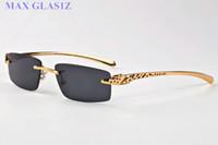 Vintage-Rechteck-Sonnenbrille für Männer Retro-Full-Frame-Sonnenbrille Frauen neuer Art und Weise Sportspiegel-Sonnenbrille Gold-Silber-Metallrahmen mit Box