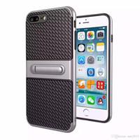 Stent de fibra de carbono de la cáscara del teléfono móvil del viajero 2 en 1 cubierta de la protección de caída para Samsung J3 J5 J7 J310 J510 J710 J320 J520 J720