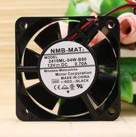 Оригинальный NMB 2410ML-04W-B80 6025 6CM 12V 0.70 a двухпроводной двойной вентилятор шарика