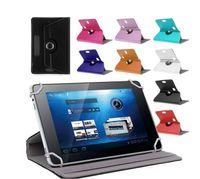 Funda de cuero universal de 7 pulgadas PU 360 grados girar la cubierta protectora del soporte para 7 pulgadas Tablet PC Fold Flip casos