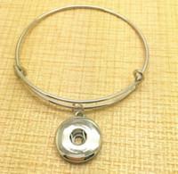 Weinlese-Silber Snaps Knopf Charms Erweiterbare Armband-Armbänder für die Verdrahtung Armbänder 12pcs Frauen-Marken-Mode-Schmuck-Geschenk-Zusätze DIY Z18