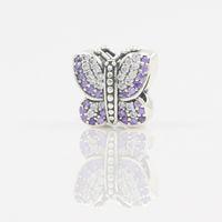 Nuovi monili di branello della farfalla di modo Monili d'argento all'ingrosso 925 braccialetti di fascino d'argento sterlina dei braccialetti per il braccialetto europeo dei branelli delle donne