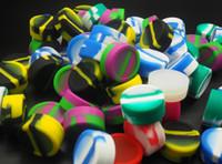 200X vendita calda antiaderente contenitore di silicone vasetti Dab Box riutilizzabile per sigaretta elettronica concentrata cera eGo colorato con tamponare strumento