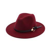 Berretto da baseball in feltro di lana moda cappello a tesa larga berretto Panama fedora uomo donna cappello unisex trilby Fascinator cappello formale