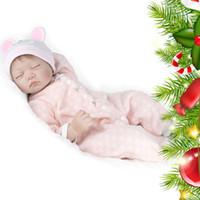 Encantadora Pestaña Larga Realista Silicona Muñecas Bebé Recién Nacido Realista Vinilo Vivo pijamas unisex Muñeca Reborn