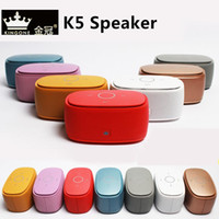 Top qualidade Genuine Kingone K5 bluetooth speaker Cartão TF PlayHands-free Mic, Super Bass Som TouchTone Speaker com Caixa De Presente De Metal Original
