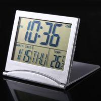 Calendario grande digital Reloj de alarma Fecha de visualización temporizador temperatura flexible mini Escritorio Digital LCD Termómetro cubierta 100 unids
