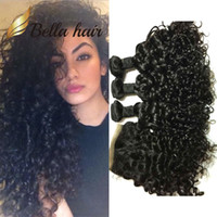 4 pçs / lote Brazilian Water Wave Lace Fechamento Ocean Weaves Virgin Bundles Bella Hair