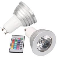 GU10 3W 16 Cambio de color de la lámpara de luz RGB LED Spotlight + control remoto IR