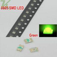 3000 pz / bobina SMD 0805 (2012) LED verde giada lampada diodi Ultra Bright SMD 2012 0805 SMD LED spedizione gratuita