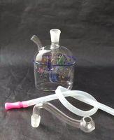 Оптовая бесплатная доставка----- 2016 NewMini-цвет рыбы стекло кальян / стеклянная трубка / стекло бонг, кальян фильтр для воды, подарок аксессуары (стекло по