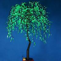 LED arbre de saule LED 288pcs LED 1.2M couleur verte imperméable à la pluie utilisation intérieure ou extérieure