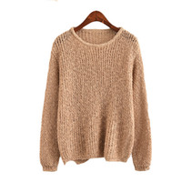 c298d0fd1b Autumn 2017 Hollow Out Women Sweaters And Pullovers Long Sleeve Casual Ugly  Sweater Loose Female Knitted Wear