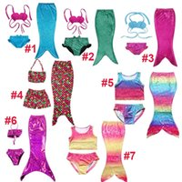 f80a7928f4 Girl Swimwear Mermaid Bikini Girls Kids Mermaid Tail Swimbling Bikini Set Swimwear  Swimsuit Trajes de banho