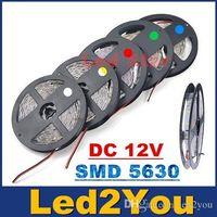 5630 LEDフレキシブルストリップ光12V 72W / 5M 60LEDS / M IP65 IP20 LEDロープライト3Mテープ暖かい白/冷たい白