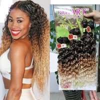 Synthetic 6pcs per pack for full head jerry curly 613 blonde...