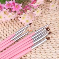 Nail Art Дизайн Живопись инструмент Pen польский набор кистей Kit DIY профессиональный розовый ногтей кисти инструменты для укладки ногтей инструменты