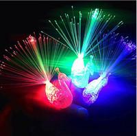 decorazione di Halloween ha condotto la luce laser ad anello luminoso lfinger Colofrul Pavone lampada luce della barretta bambini giocattoli più fini giocattoli istantanei della novità LED