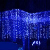 led strings 방수 800pcs 8 모드 8m x 3m 요정 문자열 조명 크리스마스 크리스마스에 대 한 커튼 빛 크리스마스 결혼식 할로윈 파티 홈 장식