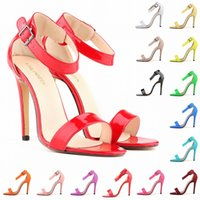 Grils Matt Leather High Heels Peep Toe Shoes Sandal Party Ca...