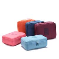 Bolsa de colección multifuncional de material de nylon para organizar la ropa interior bolsa de aseo