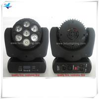 (10 / lot) Berufsdiscobeleuchtung führte bewegliches 7x15w rgbwa 5in1 Inno beweglicher Minikopf des Taschenstrahl-LED