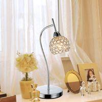 E27 No AC Modern Dimming K9 Crystal Decorative Sliver Gold Table Lamp  Living Room Wedding Bedroom Bedside Lamps Light Fixture Part 95