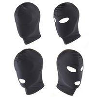 Four Style Elastic Black Spandex Sex Mask Open Eyes Bocca Fetish Bondage Mask Party Giocattoli erotici Giochi per adulti Giocattoli erotici per coppie 17901