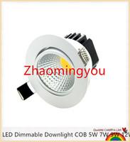 VOCÊ NOVO Super Brilhante Recesso LEVOU Dimmable Downlight COB 6 W 9 W 12 W 15 W CONDUZIU a luz do Ponto de LED decoração Do Teto Da Lâmpada AC 110 V 220 V