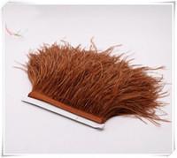 Gratis verzending 10 yards / partij donkerbruin 5-6 inch in de breedte struisvogel veer trimmen pony voor jurk naaien ambachten skrit levert kostuum aanbod