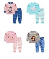 дети девушка одежда наборы осень зима дети костюмы Детские хлопок с длинными рукавами мультфильм наряды для мальчиков