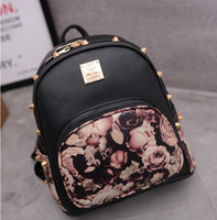 Wholesale-Female backpack fashion mini backpack rivet institute girl's bag LY127