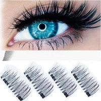 4 pcs Double Magnetic Eye Lashes 3D Reusable False Magnet Ey...