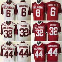 New Oklahoma Sooners 6 jersey cosido Baker Mayfield 44 Brian Bosworth 28 Adrian Peterson 14 jerseys fútbol Sam Bradford College