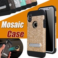 Mosaic Pattern Wrestling Case Armor 2 in 1 Bracket Magnetic ...