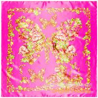 Cina seta farfalla modello di fiore caratteristiche regalo asciugamano di seta asciugamano all'ingrosso simulazione di MS.