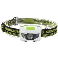 Mini Waterproof 600Lm 4 Modes R3+ 2 LED Headlight 3xAAA Headl...
