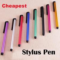 Schermo capacitivo penna stilo Penna touch altamente sensibile per Iphone 6 6 Plus Iphone 5 per Galaxy S5 S4 S7 Nota 4 Nota 3 Spedizione gratuita 100pcs