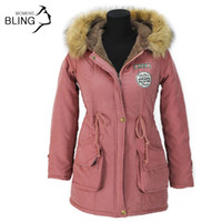 Engrosamiento parkas chaqueta de invierno abrigos mujer ropa exterior femenino más tamaño casual largo down algodón lady dama mujer moda caliente