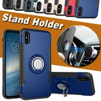 2- in- 1 Armor Case Kickstand Shock 360 Stand Holder Magnetic ...