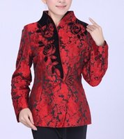 Wholesale- Red Fashion Chinese tradition Ladies Jacket coat ...