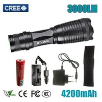 HOT Sale LED CREE CREE XM- L T6 3000 Lumens Zoomable LED Flas...