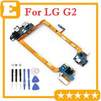 Original para lg optimus g2 d800 d801 d803 d805 d805 vs980 conector dock de carregamento porta usb jack de fone de ouvido microfone principal flex cable