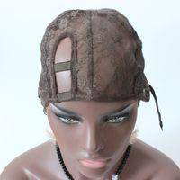 XS XL XXL правая сторона U часть парик cap для изготовления парики бесклеевой парик шапки регулируемый ремешок стрейч быстрая доставка