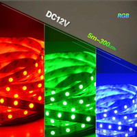 5m 5050 SMD Flexible RGB Warm White Led Strip DC12V Outdoor ...